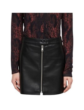 Skirt Leather In Black by All Saints