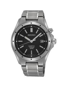 Mens Seiko Titanium Kinetic Watch Ska763 P1 by Seiko