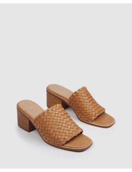 Whaler Mid Sandals Tan Leather by Jo Mercer