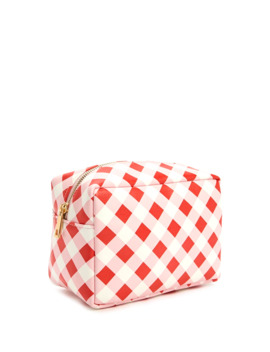 Checkered Print Makeup Bag by Forever 21