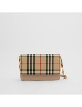 Vintage Check Canvas And Leather Bag by Burberry