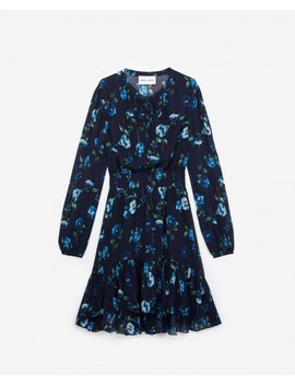 Short Printed Long Sleeve Dress by The Kooples