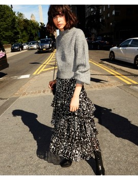 Long Skirt With Print And Ruffles by The Kooples