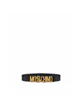 Belt With Logo And Dollar Stud by Moschino