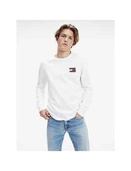 Tommy Badge Long Sleeve T Shirt by Tommy Hilfiger