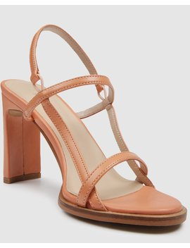 Capri High Heel Sandals Blush Leather by Jo Mercer