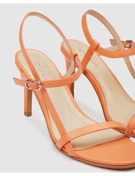Sanity High Sandals Tangerine by Jo Mercer
