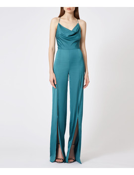 finley-teal-split-leg-jumpsuit by aq_aq