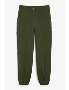 Cotton Cargo Trousers by Monki