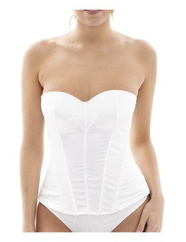 Tiffany Ivory Strapless Corset by Panache