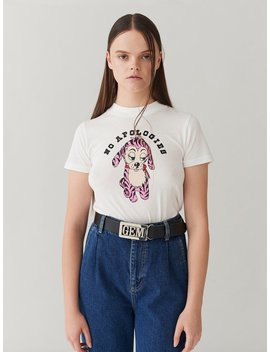 G.E.M. No Apologies T Shirt by Lazy Oaf