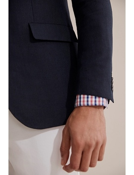 Slim Textured Weave Blazer by Country Road