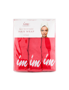 Illuminate Me Microfibre Hair Wrap 4 Pack   Coral by Illuminate Me