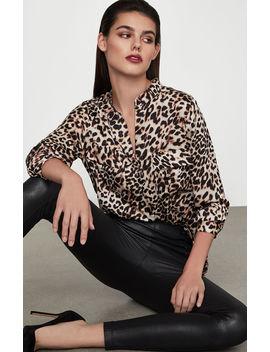 Leopard Print Blouse by Bcbgmaxazria
