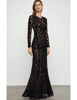 Velvet Lace Gown by Bcbgmaxazria