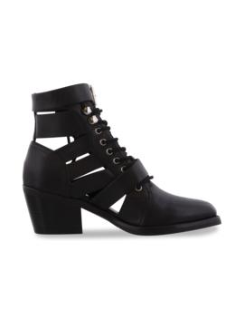 Felix Black Jetta Polish Ankle Boots by Tony Bianco