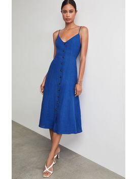 Button Front Linen Dress by Bcbgmaxazria