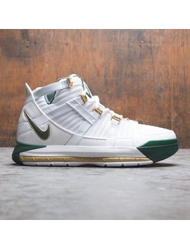 Nike Men Zoom Lebron 3 Qs (White / Deep Forest Metallic Gold) by Bait