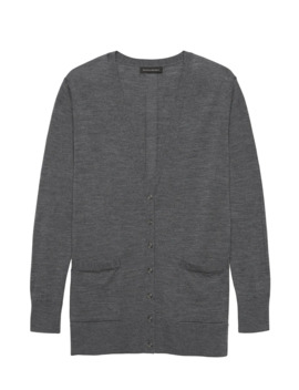 Washable Merino Boyfriend Cardigan Sweater by Banana Republic