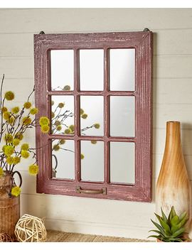 Distressed Wood Windowpane Mirrors by Lakeside Collection