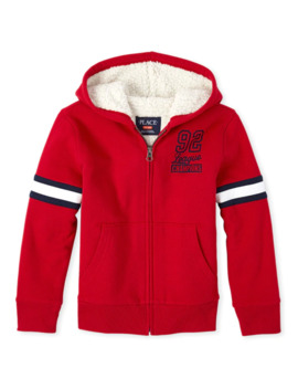 Boys Sport Sherpa Zip Up Hoodie by Children's Place