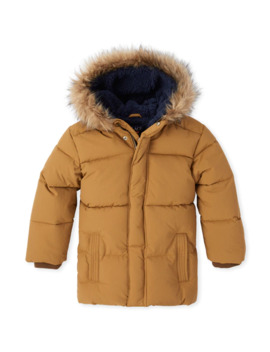 Boys Quilted Parka Jacket by Children's Place