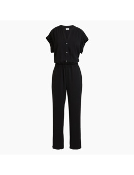 Cuffed Camp Shirt Jumpsuit by J.Crew