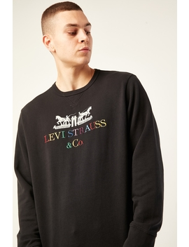 Graphic Crew B 90 S Logo Text Mineral Black by Levi's