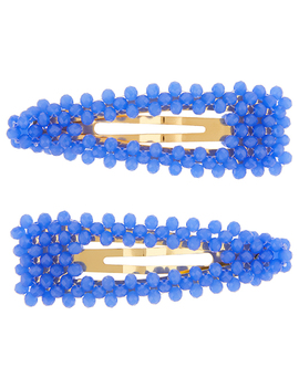 X2 Beaded Snap Clips by Accessorize