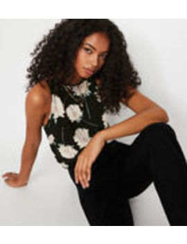 Floral High Neck Cami Top by Warehouse