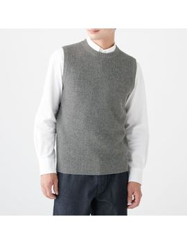 Merino Wool Waffle Vest by Muji