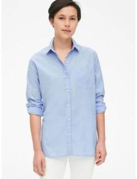 Boyfriend Popover Shirt In Poplin by Gap