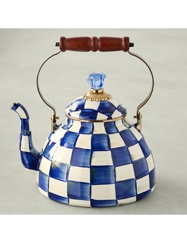 Mac Kenzie Childs Royal Check Tea Kettle by Williams   Sonoma
