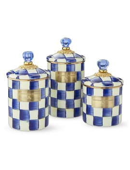 Mac Kenzie Childs Royal Check Canister by Williams   Sonoma