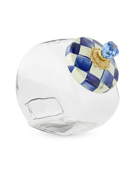 Mac Kenzie Childs Royal Check Cookie Jar by Williams   Sonoma