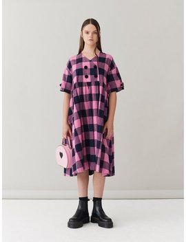G.E.M. Candy Check Flannel Dress by Lazy Oaf