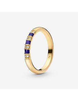 Blue Stripes Ring by Pandora