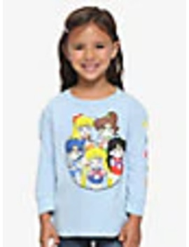 Sailor Moon Chibi Sailor Scouts Toddler Long Sleeve T Shirt   Box Lunch Exclusive by Box Lunch