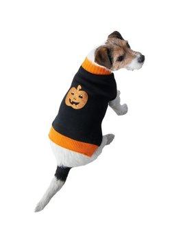 Light Up Halloween Dog Jumper   Pumpkin by B&M