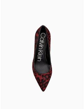 Gayle Leopard Heel by Calvin Klein
