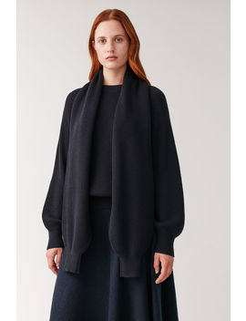 Jumper With Detachable Scarf by Cos
