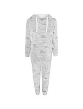 Grey Fleece Cloud Print Twosie by Asda