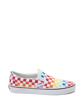 Vans Slip On Rainbow Checkerboard Skate Shoe   Multi by Vans