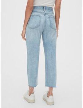 Mid Rise Boyfriend Jeans With Raw Hem by Gap
