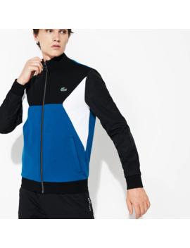Herren Lacoste Sport Sweatshirt Aus Bi Material Mit Colourblocks by Lacoste