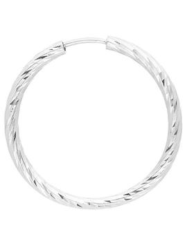 White Gold Alba 20 Hoop Earring by Maria Black
