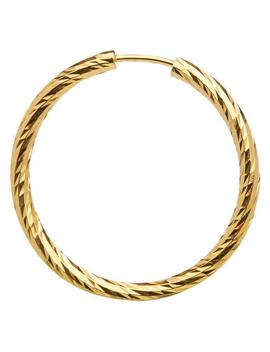 Gold Alba 20 Hoop Earring by Maria Black