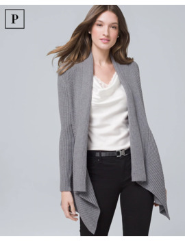 Petite Ribbed Cover Up Sweater by Whbm