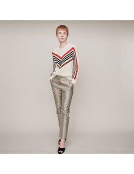 Twisted Sweater With Graphic Motifs by Maje