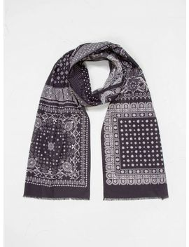 Cotton Bandana Scarf Navy by Engineered Garments